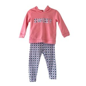 Carter's Matching set pink hoodie and pants 18m